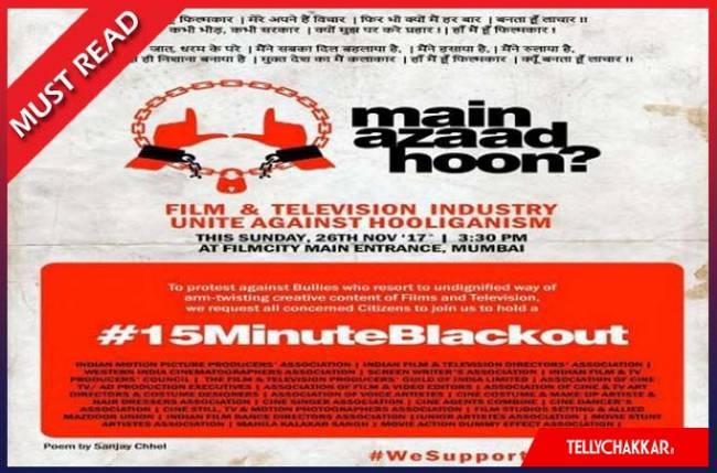 Padmavati Intolerance: Television industry asks MAIN AZAAD HOON?
