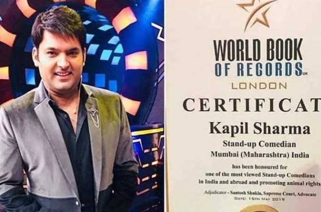 Kapil Sharma gets honoured by World book of Records London for THIS reason